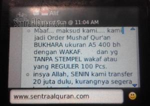 Order alquran wakaf syaamil quran bukhara A5