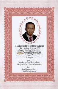 Desain Stiker Wakaf Bapak H Sulcahyadi