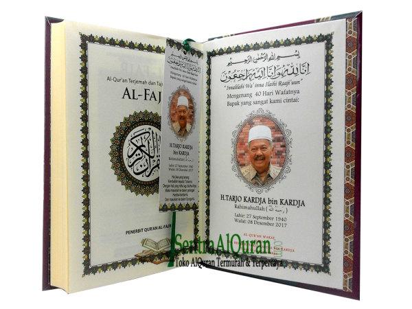 Grosir AlQuran Souvenir Customize Cover Terjemahan Tajwid
