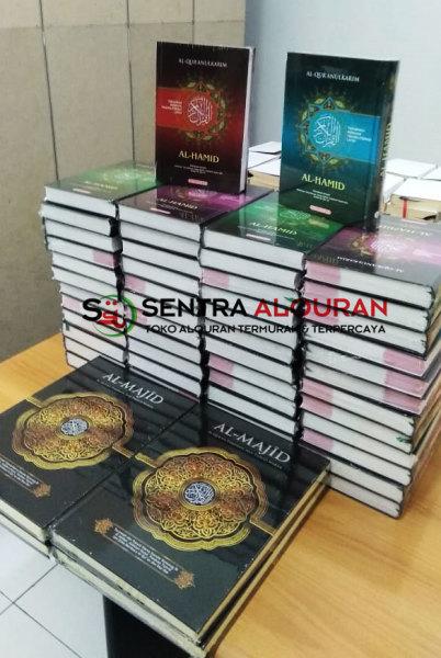 pembelian AlQuran Al-Quran Al-Hamid Perkata dan Al-Majid A4 Souvenir 1000 Hari Meninggal