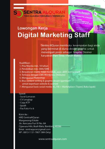 Iklan Lowker Digital Marketing Staff
